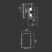 Horní pojezdové kolečko M11horn ke sprchovému koutu