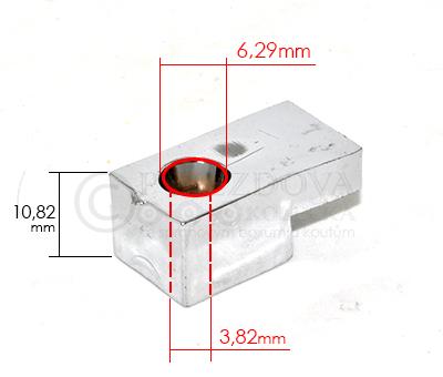 Náhradní díl - Držák skla ke sprchovému koutu SD029 - velikost 2