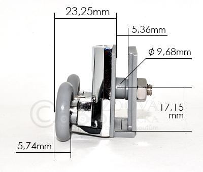 pojezdové kolečko ke sprchovému koutu W08 - velikost 1
