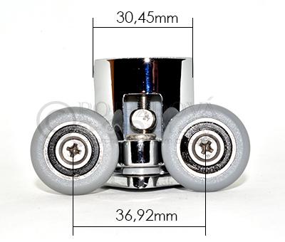 pojezdové kolečko ke sprchovému koutu W08 - velikost 2