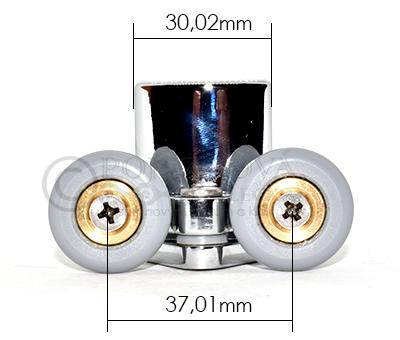 pojezdové kolečko ke sprchovému koutu W28 - velikost 2