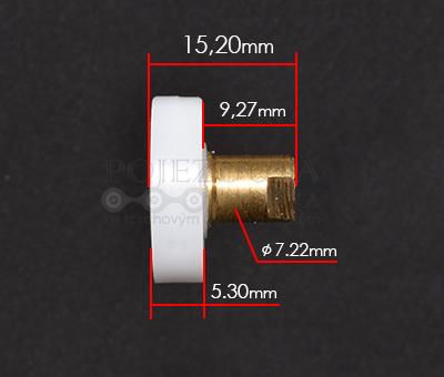 pojezdové kolečko ke sprchovému koutu A323 - velikost kolečka 1