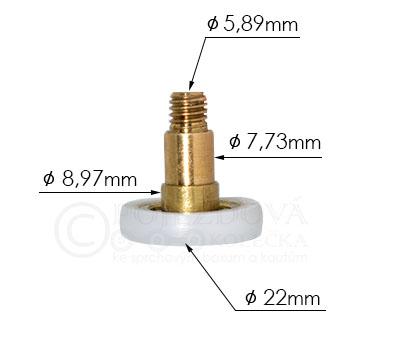 pojezdové kolečko ke sprchovému koutu HS528 - velikost 2